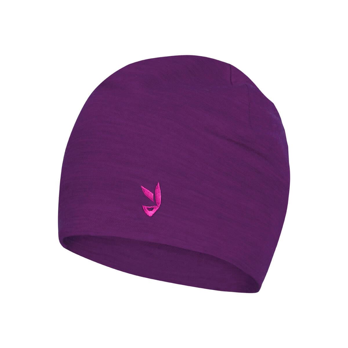 Detská čiapka Ikoo Kids Merino Beanie Dark Purple S