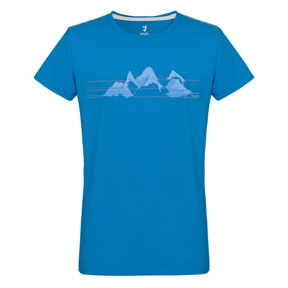 Detské tričko  Zajo Bormio Kids T-shirt SS Ibiza Blue Mountains - veľkosť 86 - 92