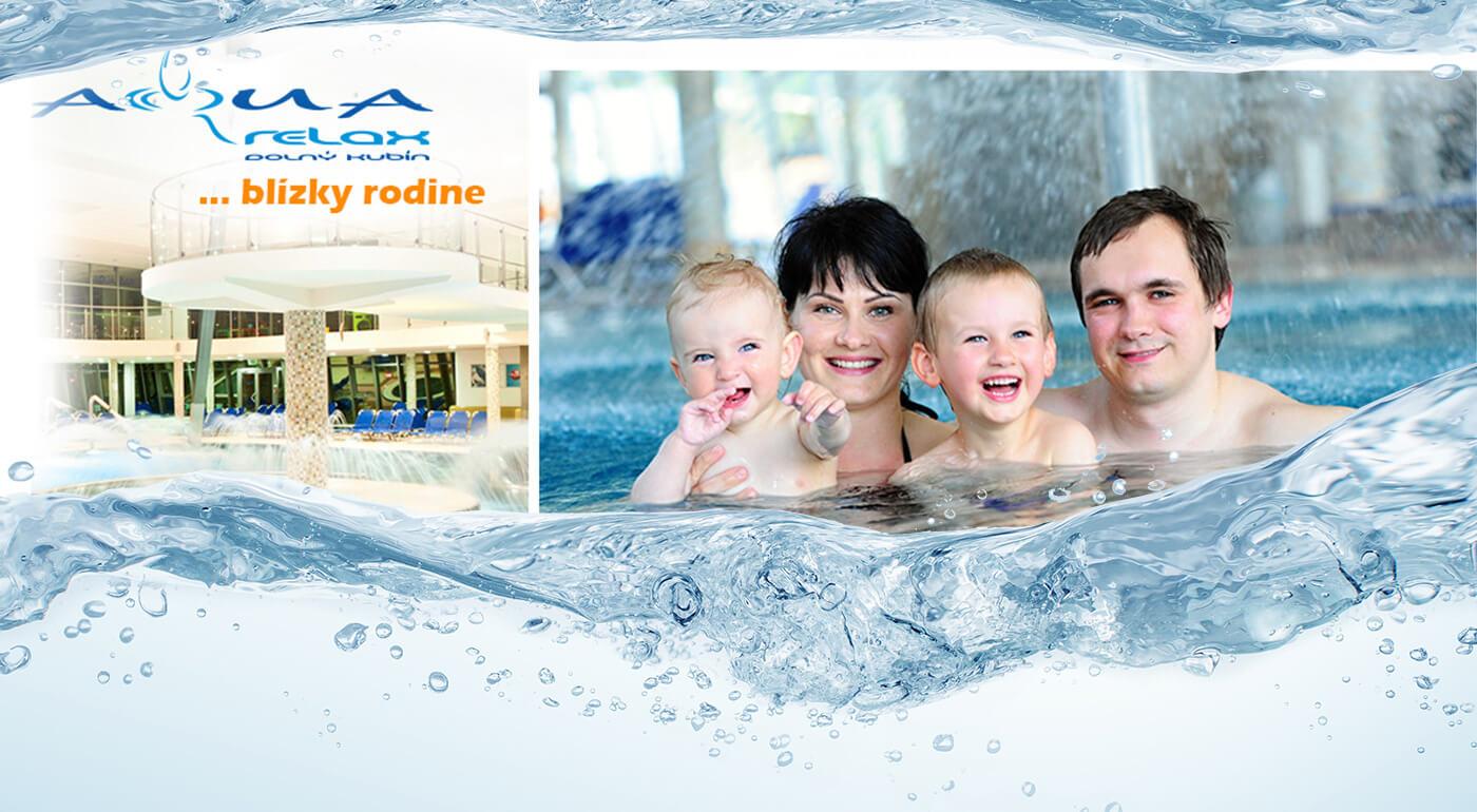 3 hodiny alebo celý deň v Aquaparku AquaRelax v Dolnom Kubíne - ideálne miesto pre rodiny s deťmi!