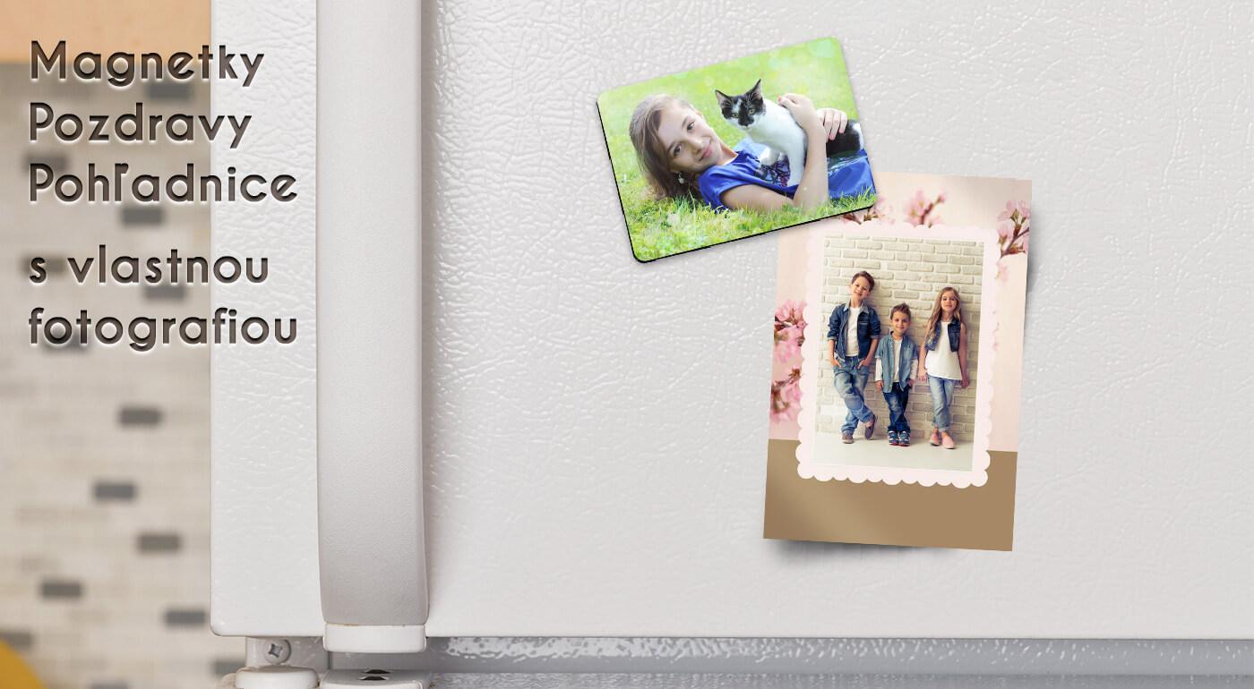 Magnetky, pozdravy alebo pohľadnice s veľkonočným motívom a vlastnou fotografiou