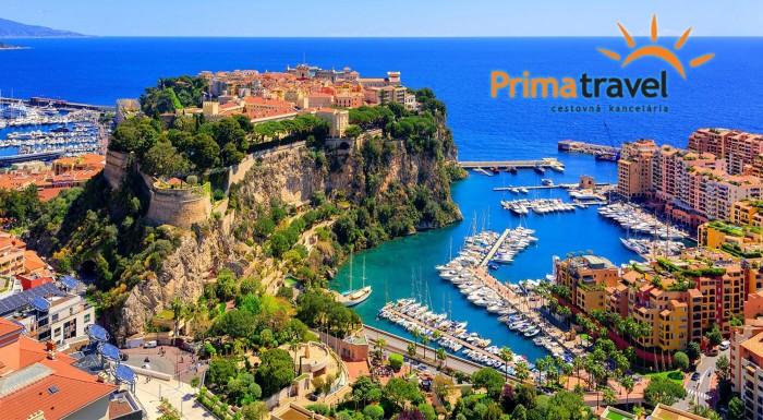 Zľava 26%: Francúzsko nie je len Paríž! Nechajte sa okúzliť šarmom Azúrového pobrežia a maličkým Monakom. Čo by ste povedali na predĺžený letný víkend pri mori úplne bez starostí?