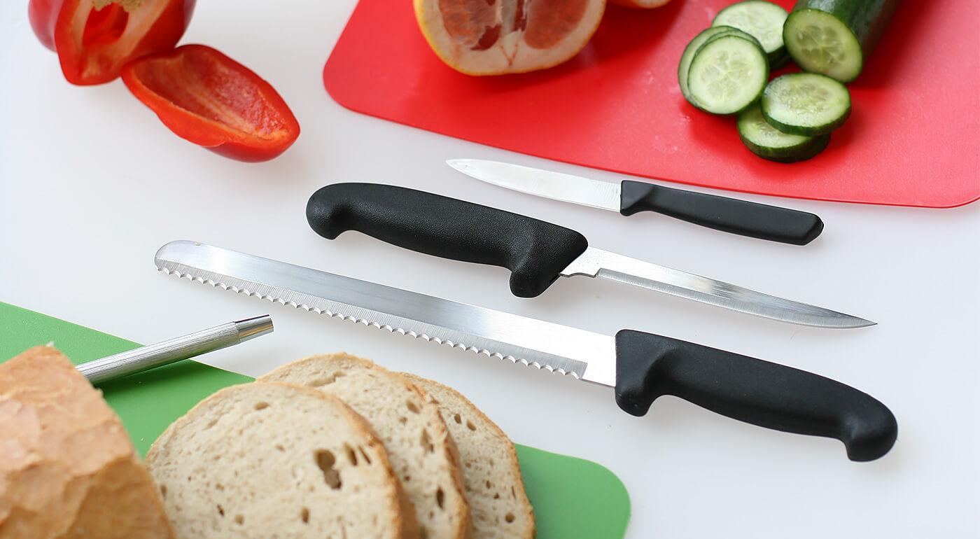 Kuchynské nože z najkvalitnejšej ruskej ocele - na výber až 7 druhov nožov alebo oslička na brúsenie!