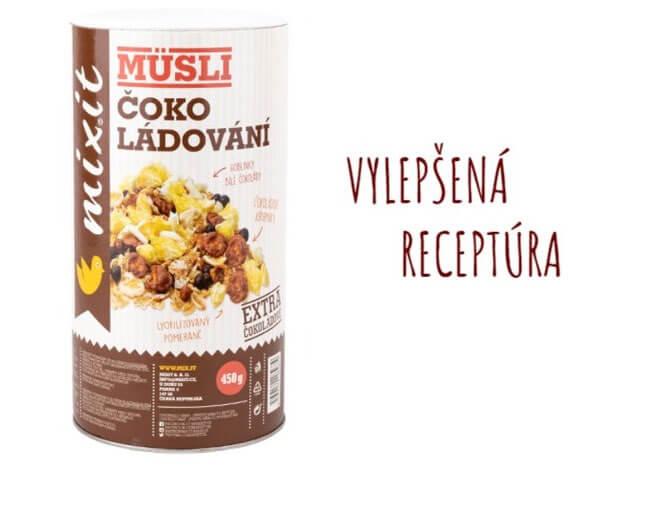 Mixit Čoko - ládovanie 450 g raňajkové müsli (nová receptúra bez kávových zŕn)