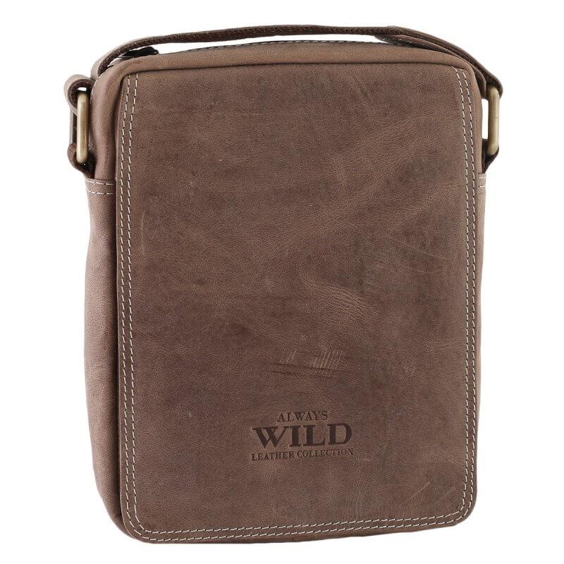 Pánska celokožená taška Always Wild model 1 farba hnedá
