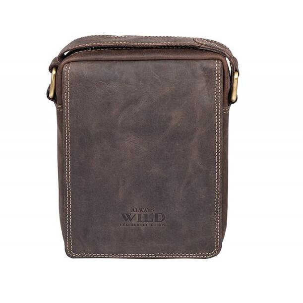 Pánska celokožená taška Always Wild model 1 farba tmavohnedá