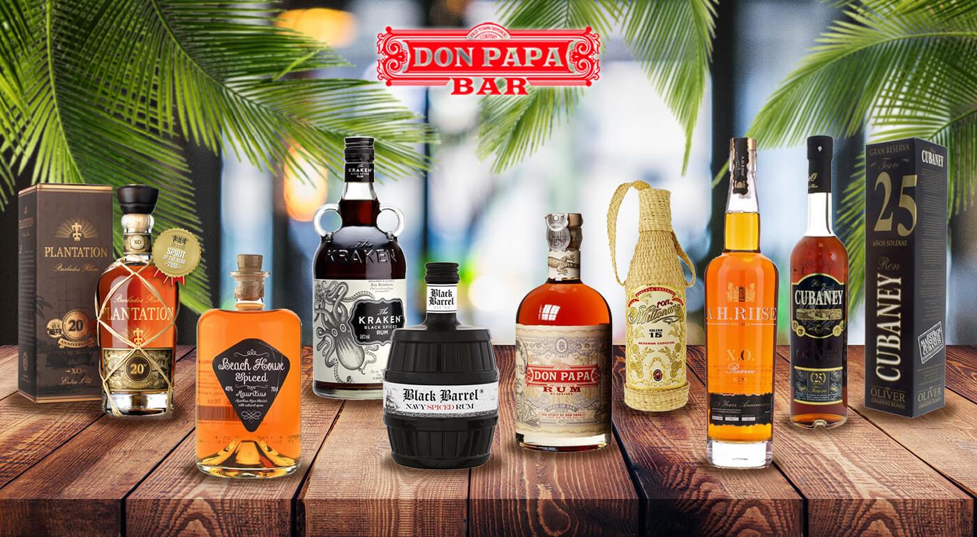 Ochutnávka prémiových rumov v bare Don Papa  - objavte nové a nepoznané chute exotiky prostredníctvom 8 svetových značiek