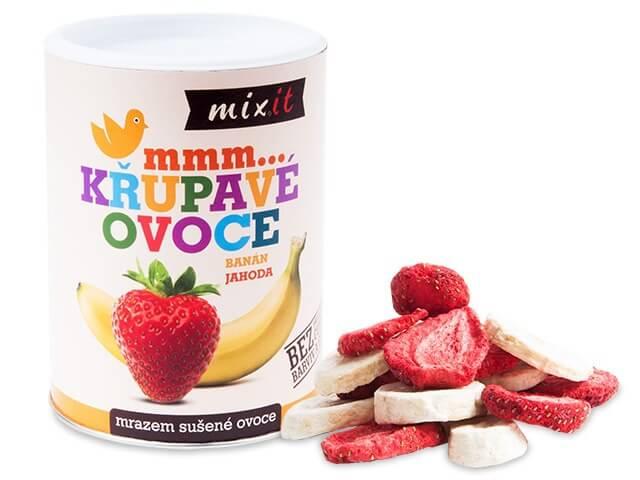 MIXIT Banán a jahoda - chrumkavé ovocie 80 g