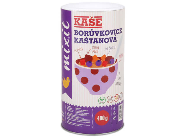 MIXIT raňajková kaša Čučoriedkovica gaštanová 400 g