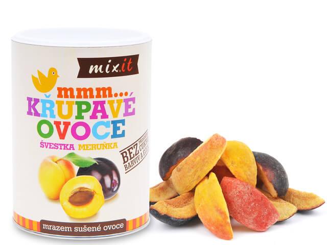 MIXIT Slivka a marhuľa - chrumkavé ovocie 65 g