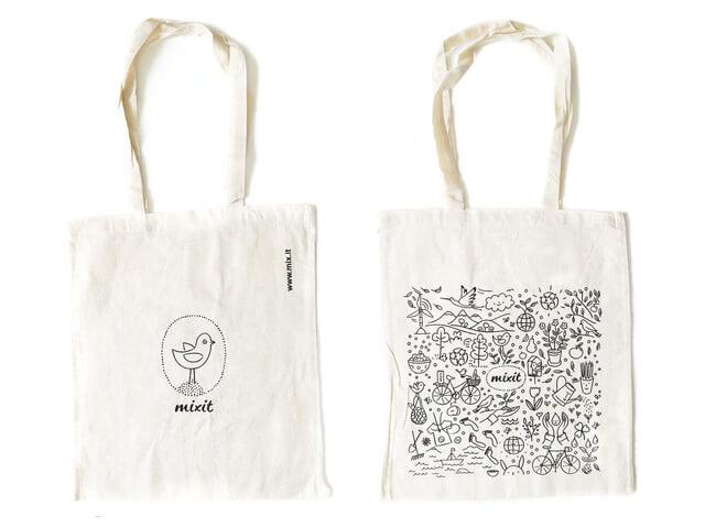 Ušatá taška MIXIT 36x40 cm bavlnená
