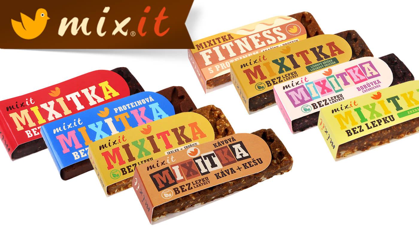 Počuli ste už o Mixitke? Je to fajnová tyčinka od Mixit plná ovocia, orieškov a bez lepku! Vyskúšajte arašidovú s proteínmi, čučoriedkovú či datľovo-figovú. U nás majú tie najvýhodnejšie ceny!