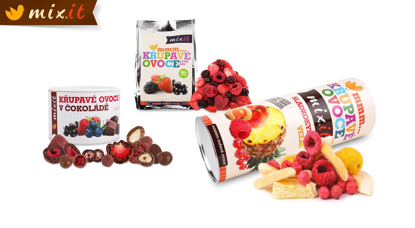 Mrazom sušené ovocie MIXIT - lyofilizované maliny, jahody alebo ovocné zmesi, ktoré dodajú energiu a chutia naozaj výnimočne!