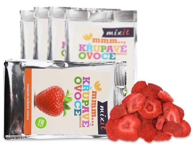 MIXIT Chrumkavé ovocie do vrecka Jahoda 13 g