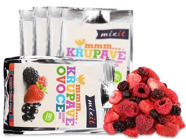 MIXIT Chrumkavé ovocie do vrecka Lesný mix 20 g