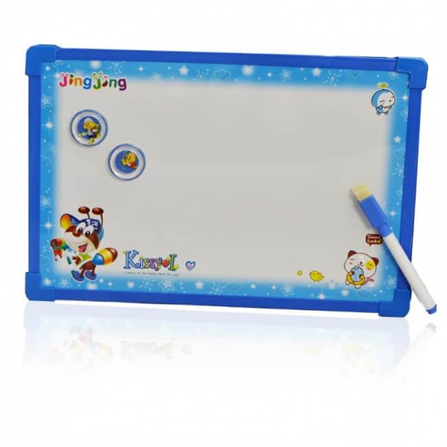 Magnetická tabuľa na kreslenie obojstranná - modrá