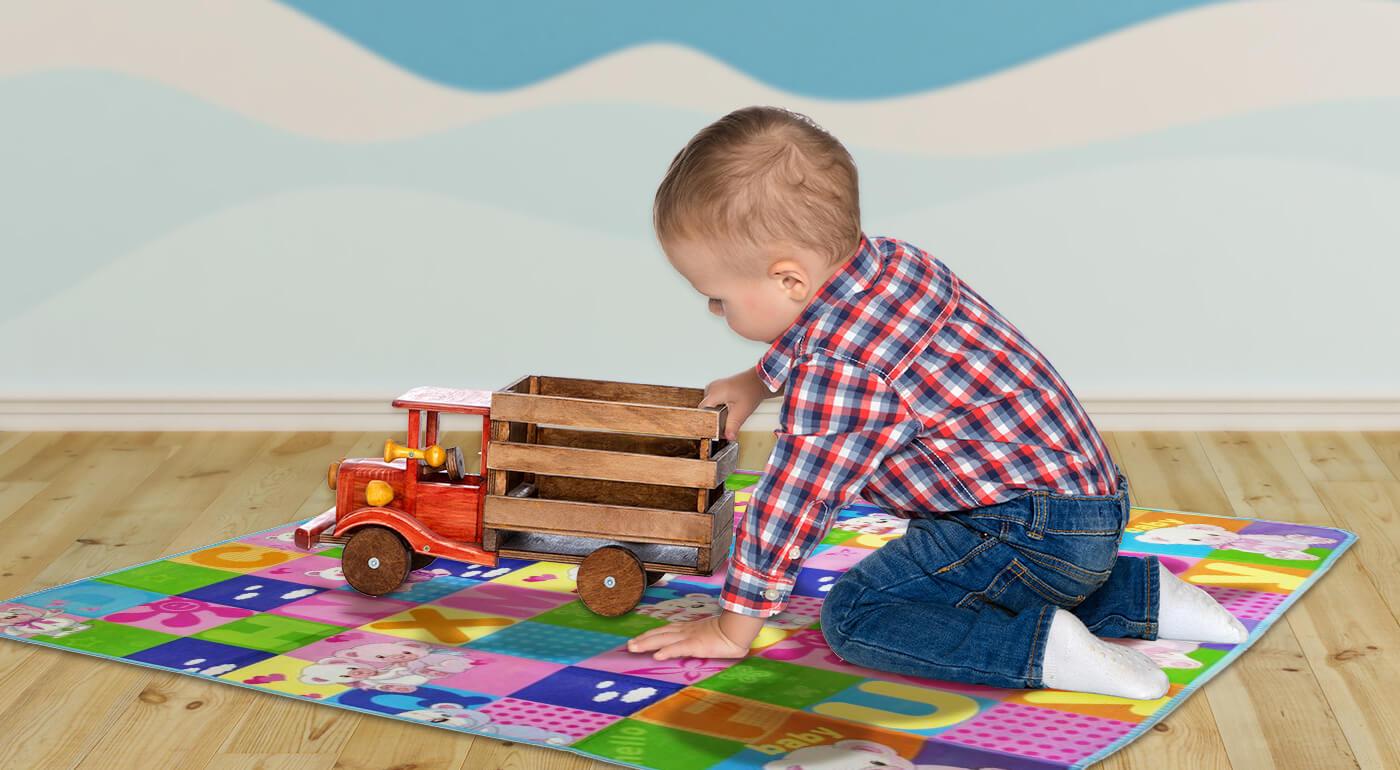 Veselá podložka na hranie pre najmenších - pre pohodlnú hru v detskej izbe, v záhrade i na pláži
