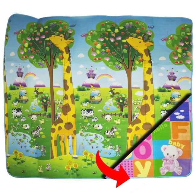 Detská podložka na hranie 2x1,8 m Žirafy