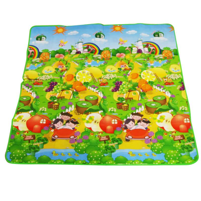 Detská podložka na hranie 2x1,8 m Ovocná záhrada