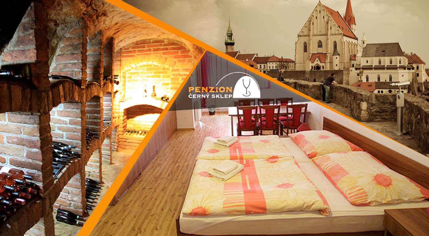 Penzión Černý sklep na Morave: kvalitný oddych s ochutnávkou znojemského vína a raňajkami pre 2 osoby