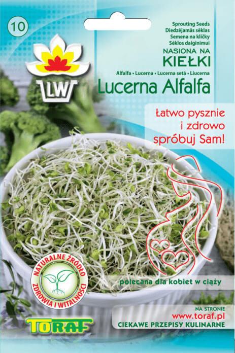 Toraf Alfalfa (lucerna siata) 20 g Semienka na klíčenie