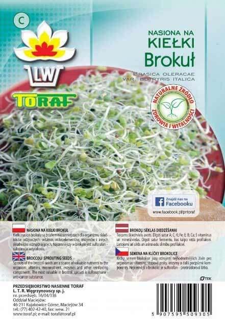 Toraf Brokolica 10 g Semienka na klíčenie
