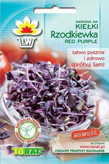 Toraf Reďkovka Red Purple 10 g Semienka na klíčenie