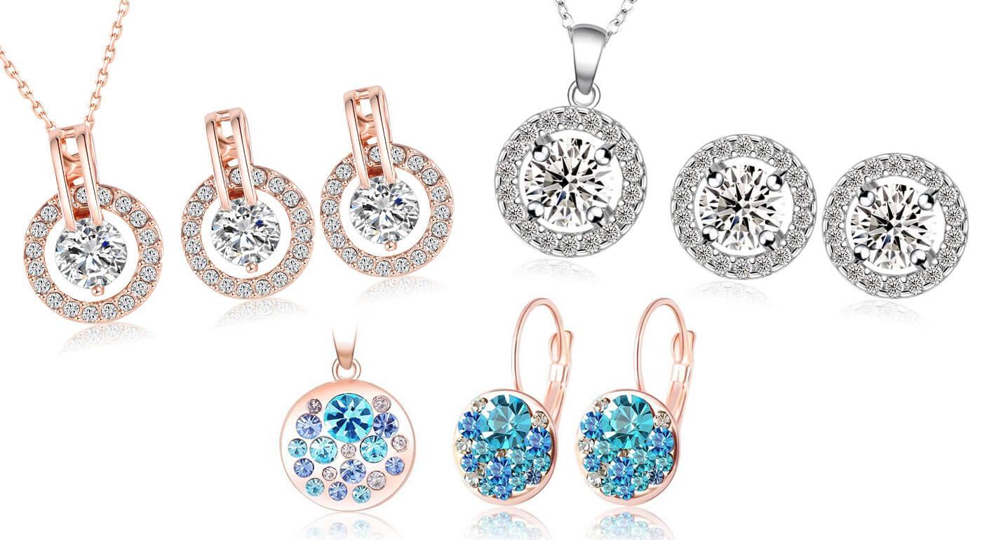Set šperkov so zirkónmi a rakúskymi krištáľmi inšpirovanými Swarovski Elements + darčeková krabička zdarma