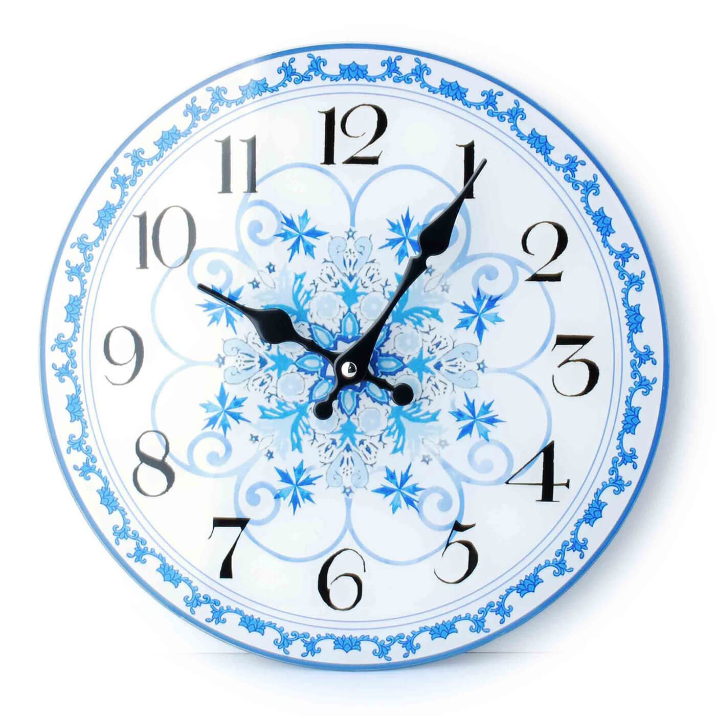 Nástenné hodiny Affek Design bielo-modré