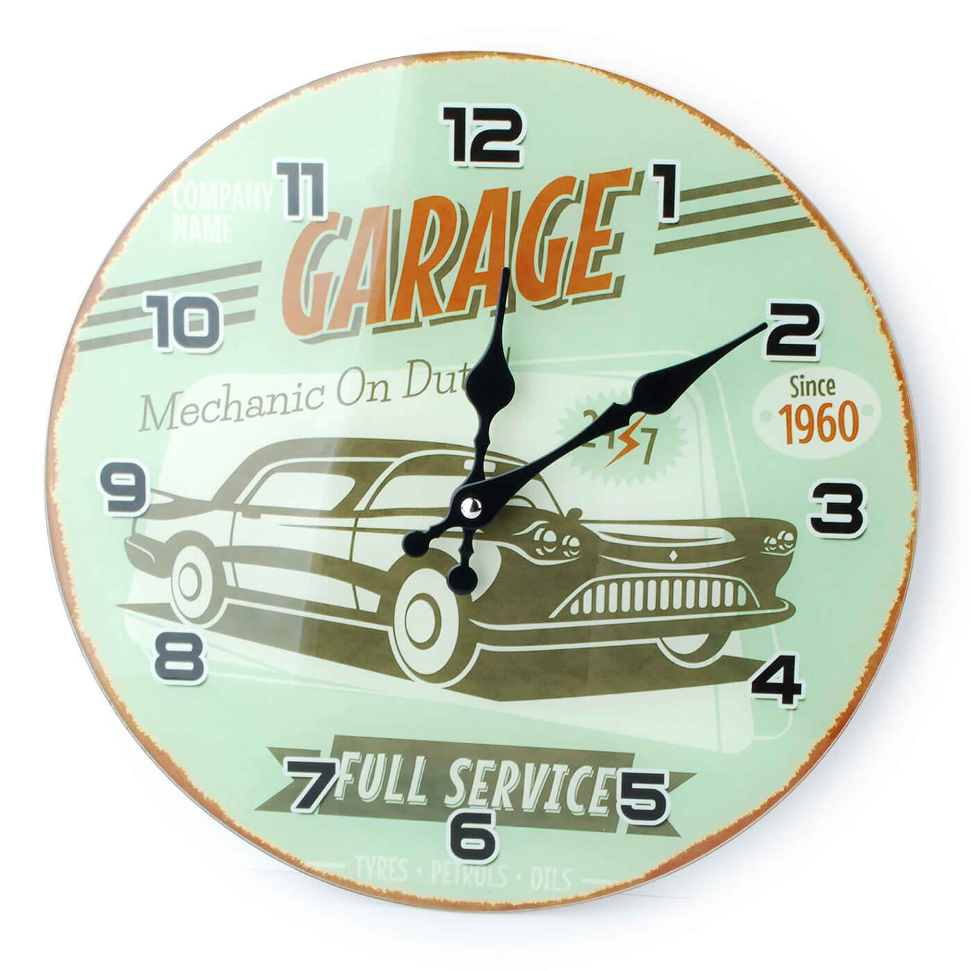 Nástenné hodiny Affek Design Garage