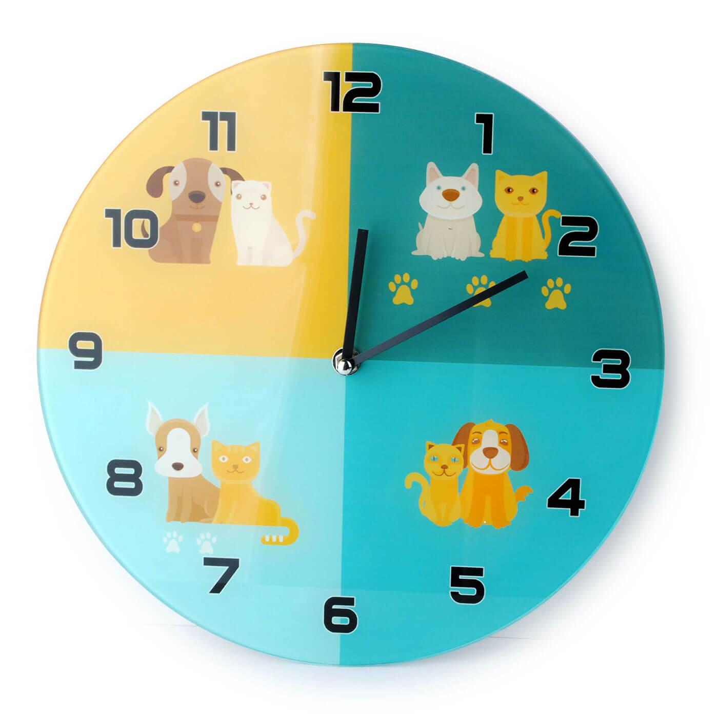Nástenné hodiny Affek Design Mačka a Pes