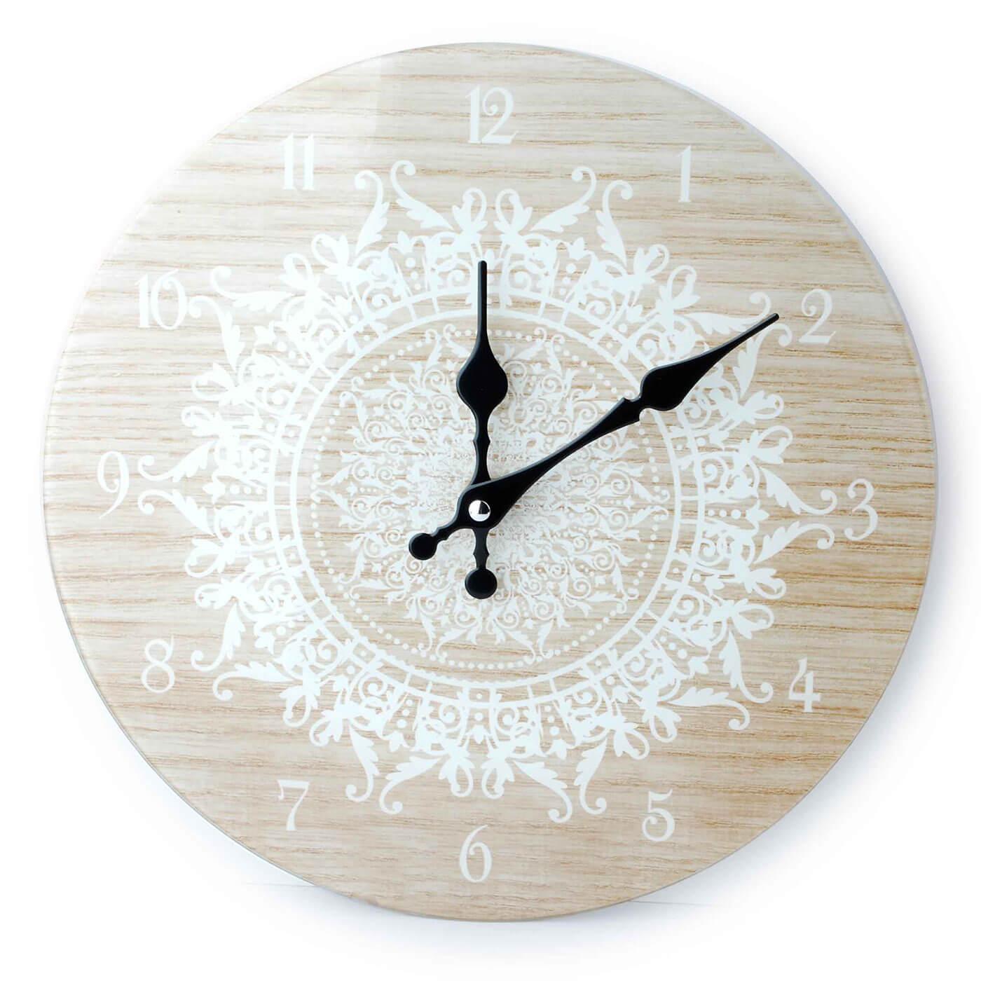 Nástenné hodiny Affek Design Mandala béžové