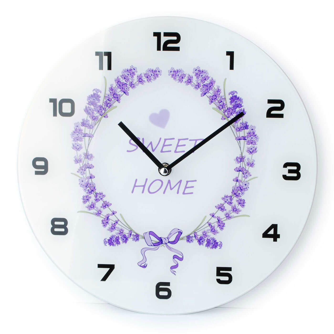 Nástenné hodiny Affek Design Levanduľa Sweet Home