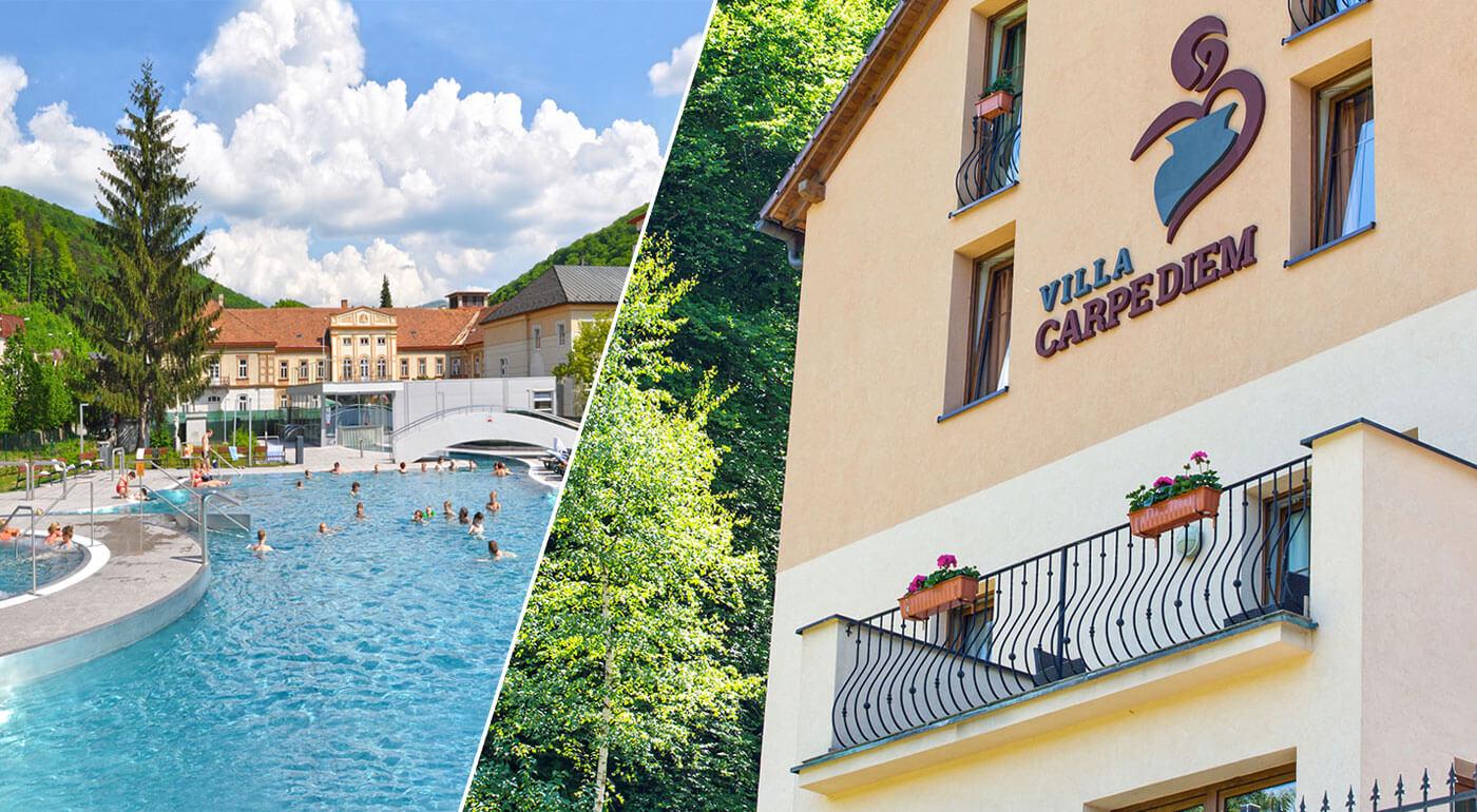 Trenčianske Teplice: Májový pobyt vo Ville Carpediem, ktorý si užijete naplno aj s polpenziou a privátnym wellness