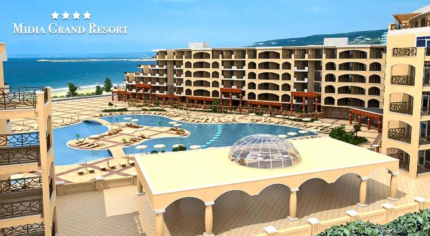Bulharsko: Letná dovolenka v 4* apartmánovom komplexe Midia Grand Resort priamo pri mori