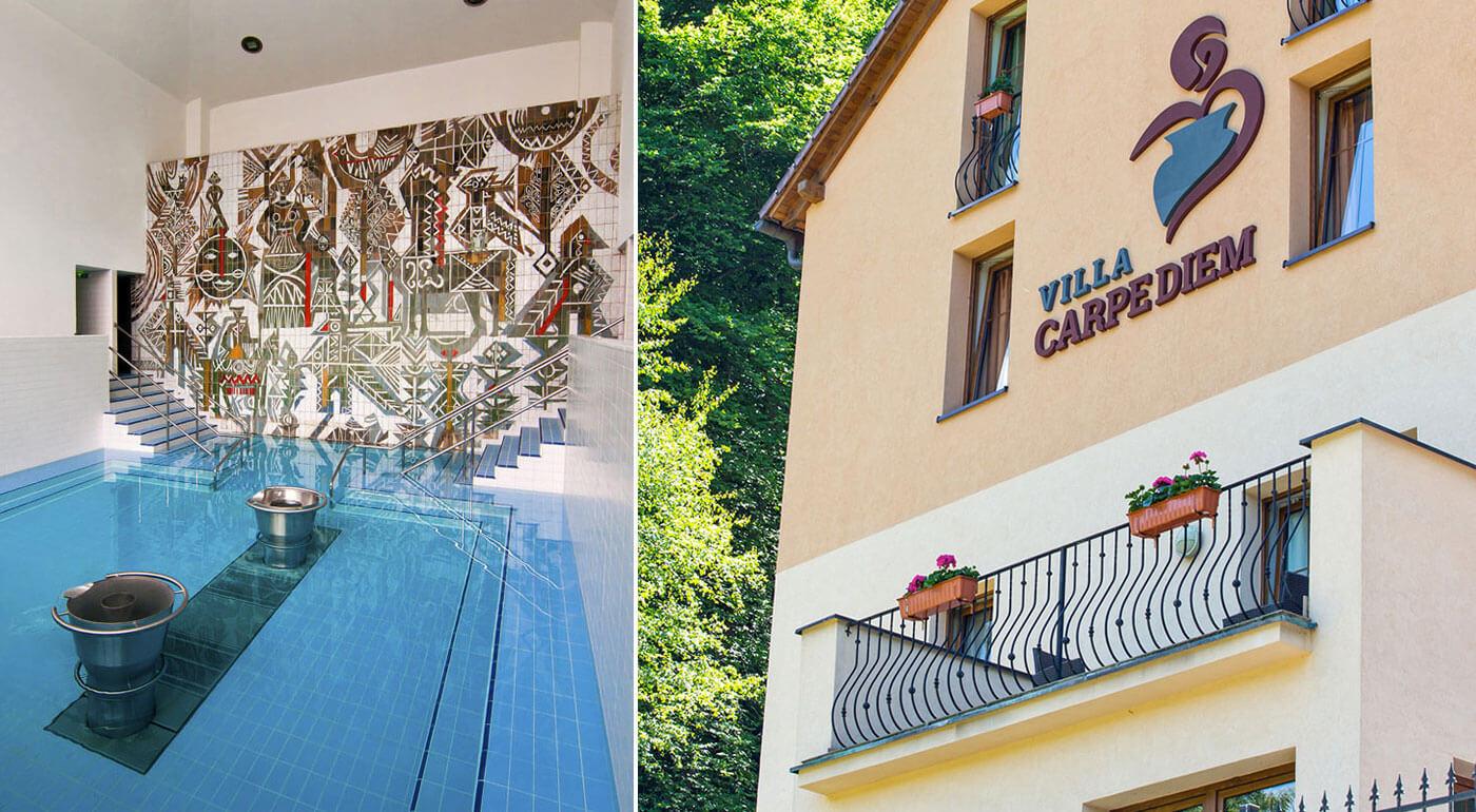 Trenčianske Teplice: Jesenná dovolenka vo Ville Carpediem pre dvoch s privátnym wellness
