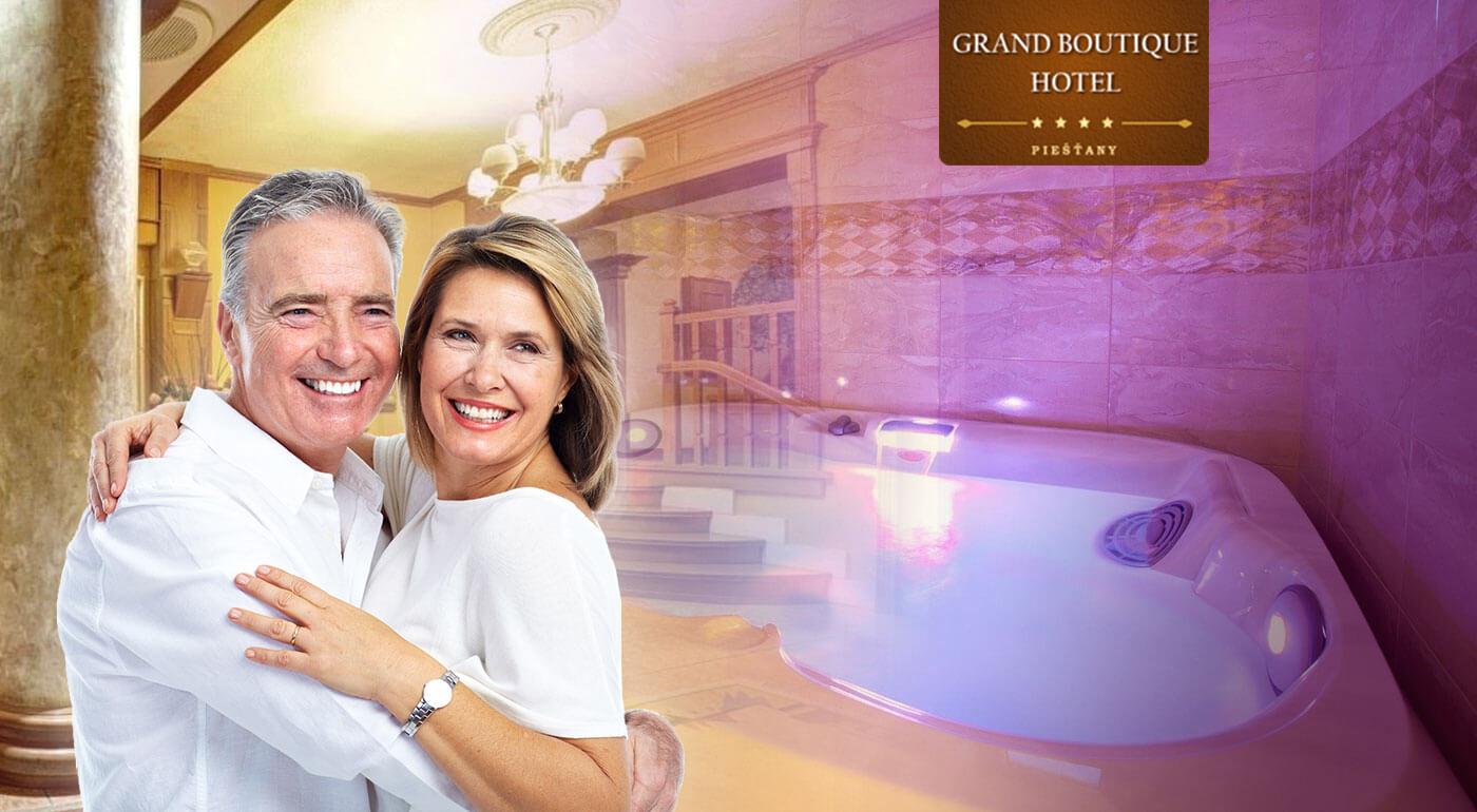 Senior pobyt v Grand Boutique Hoteli Sergijo**** Piešťany s plnou penziou a luxusnými wellness procedúrami