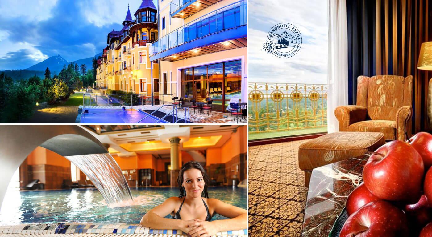 Vysoké Tatry, Grandhotel Praha****: Luxusný pobyt pre dvoch s raňajkami a špičkovým wellness na 2 dni