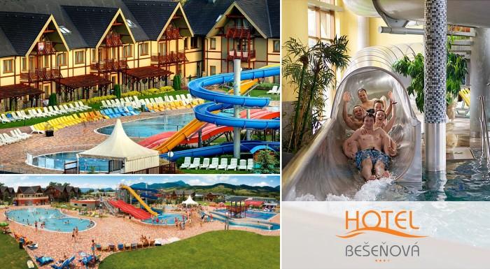 Ste vo vode ako doma? Čo tak zariadiť si dovolenku pre zmenu na Slovensku, priamo v najkrajšom vodnom parku Bešeňová? Z Hotela Bešeňová*** máte k vodným atrakciám naozaj len na skok!