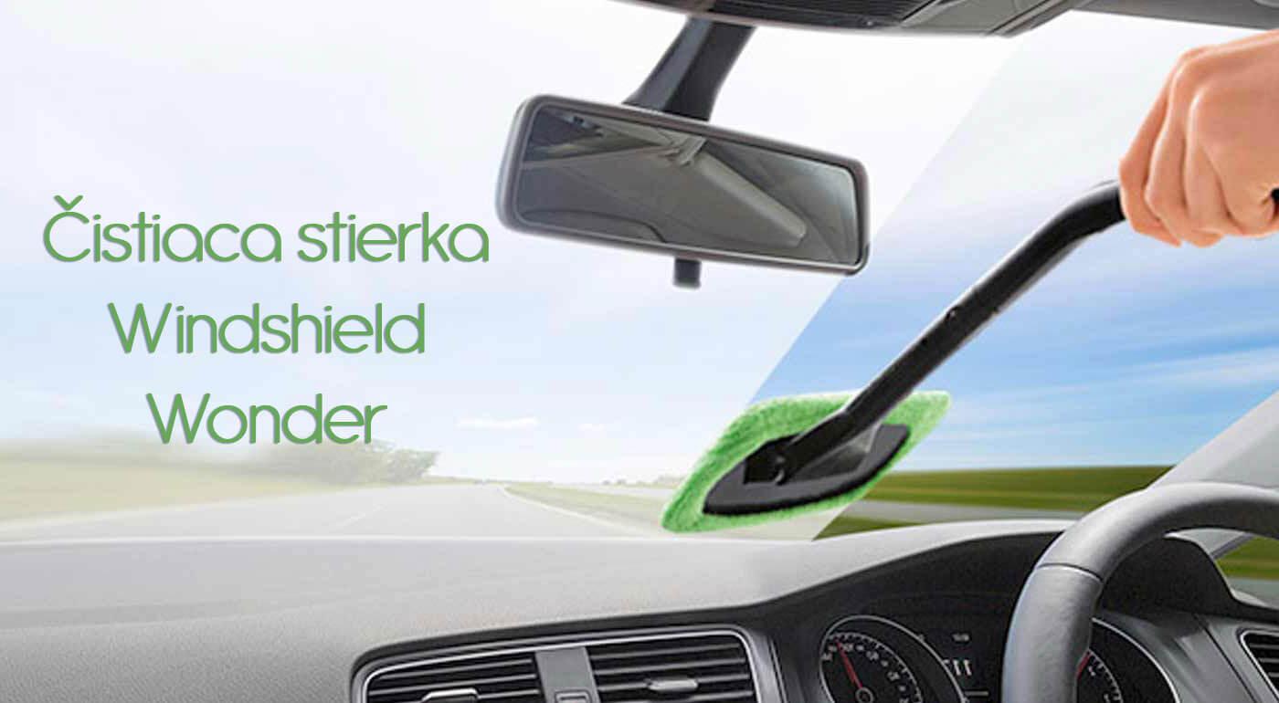 Stierka na čistenie predného skla auta Windshield Wonder s praktickou ohybnou rúčkou