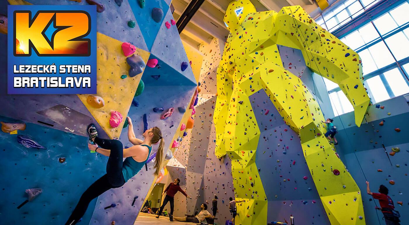 Kurz lezenia a istenia s inštruktorom na najväčšej lezeckej stene v SR - v cene i požičanie výstroja
