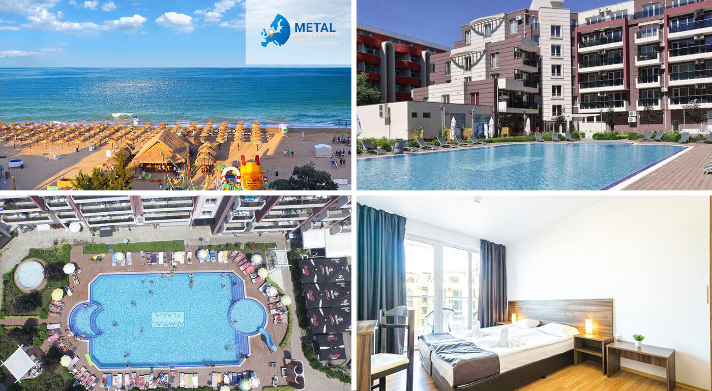 Slnečné pobrežie, Bulharsko: letný relax v apartmánoch Admiral Plaza Hotel*** na 8 dní