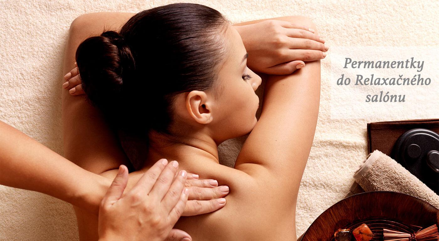 Permanentka na masáž chrbta alebo celého tela v Relaxačnom salóne v Bratislave
