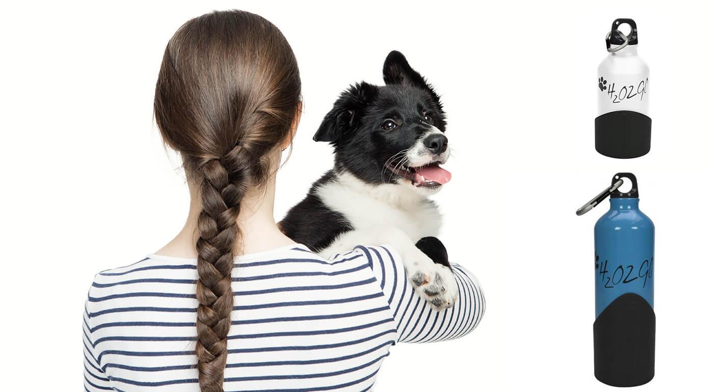 Máte radi dlhé prechádzky so svojim psíkom? Postarajte sa o jeho pitný režim na dlhých cestách s praktickou fľašou H2O2GO. Je vyrobená z hliníku a v spodnej časti má super misku na pitie.