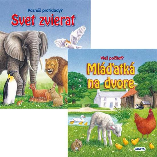 Svet zvierat + Mláďatká na dvore (set dvoch kníh)