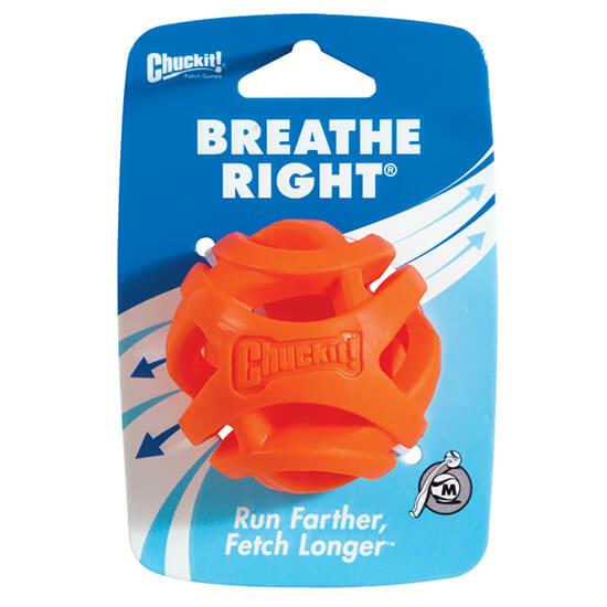 Loptička pre psa Chuckit! Breath Right 1 kus - veľkosť M (priemer 6,5 cm)