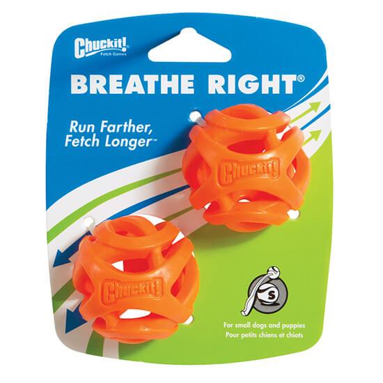 Loptička pre psa Chuckit! Breath Right 2 kusy - veľkosť S (priemer 5 cm)