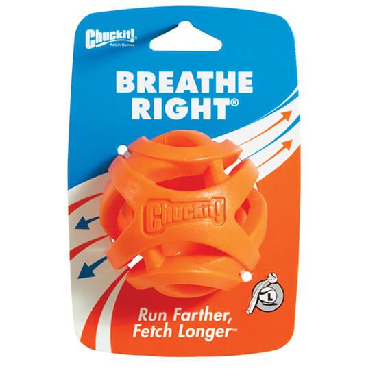 Loptička pre psa Chuckit! Breath Right 1 kus - veľkosť L (priemer 7,5 cm)