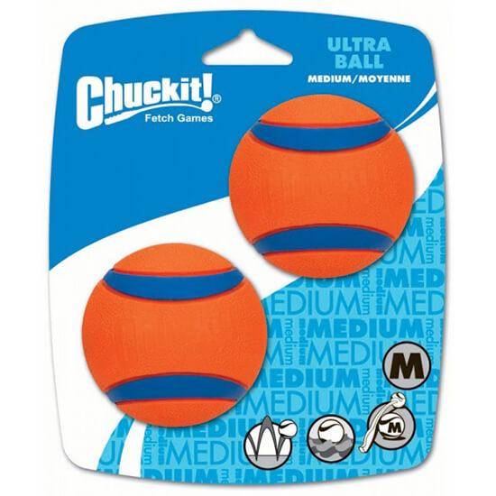 Loptička pre psa Chuckit! Ultra Ball Medium 2 kusy - veľkosť M (priemer 6,5 cm)
