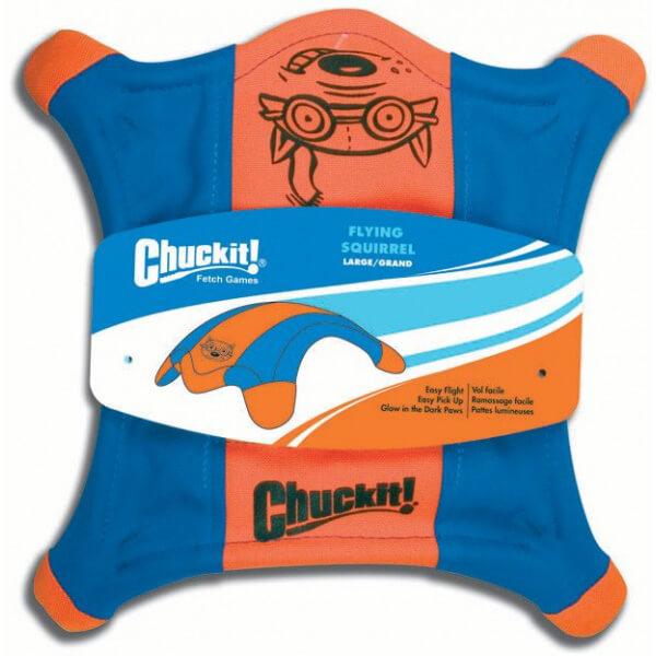 Lietajúci tanier v tvare veveričky Chuckit! - veľkosť L (priemer 27 cm)
