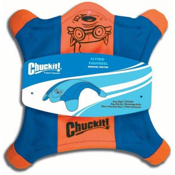Lietajúci tanier v tvare veveričky Chuckit! - veľkosť M (priemer 25 cm)